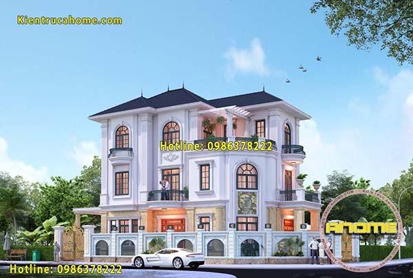 Thiết kế biệt thự 3 tầng tại TPHCM AH20111(CĐT: Ông Hoàng- TPHCM)