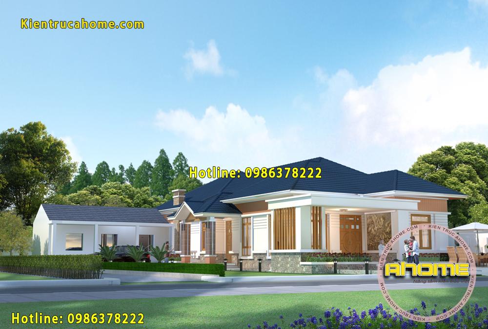Thiết kế biệt thự vườn 1 tầng AH20102(CĐT: Ông Thắng- Thái Bình)