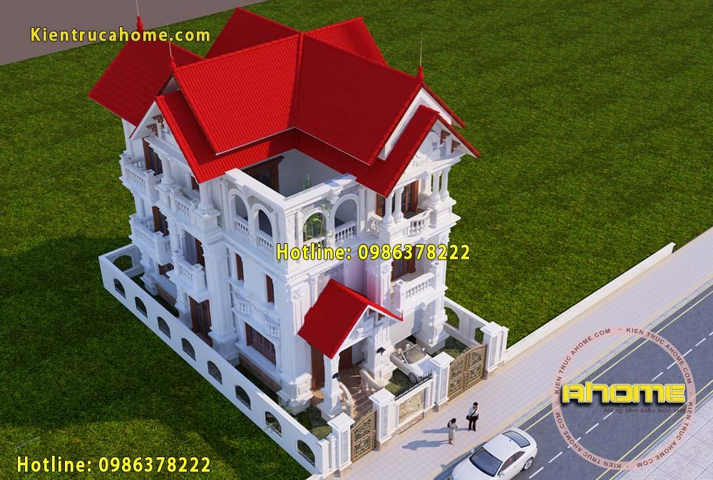 Biệt thự cổ điển Pháp 3 tầng AH20119(CĐT: Bà Hoàn- TPHCM)