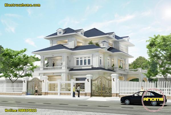 Mẫu biệt thự 3 tầng Tân cổ điển AH20130(CĐT:Ông Nam- Quảng Bình)