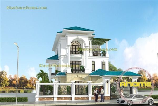 Mẫu thiết kế biệt thự 3 tầng đẹp AH20125(CĐT: Ông Nam- Nha Trang)