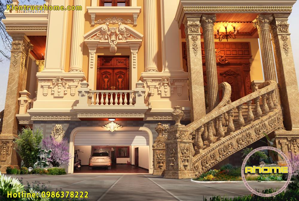 Mẫu lâu đài đẹp 4 tầng AH20134(CĐT: Ông Phước- Long An)