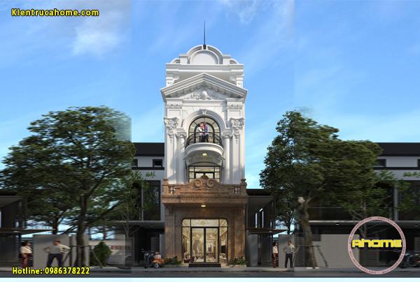 Mẫu nhà phố cổ điển 3.5 tầng cực đẳng cấp AH20131(CĐT: Ông Sơn- Bắc Ninh)