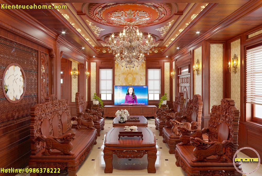 Mẫu nội thất cổ điển gỗ NT20040(CĐT: Ông Lâm- Hưng Yên)
