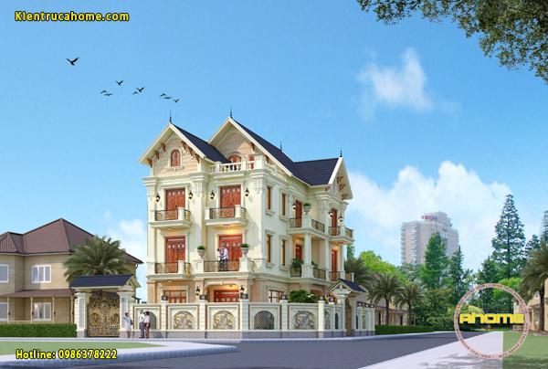 Biệt thự 3 tầng tân cổ điển- Kinh nghiệm khi thiết kế và thi công.