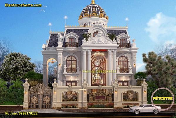 Mẫu biệt thự cổ điển 3 tầng với mái Mansard đầy cuốn hút AH20137(CĐT: Ông Tịnh- Quảng Trị)