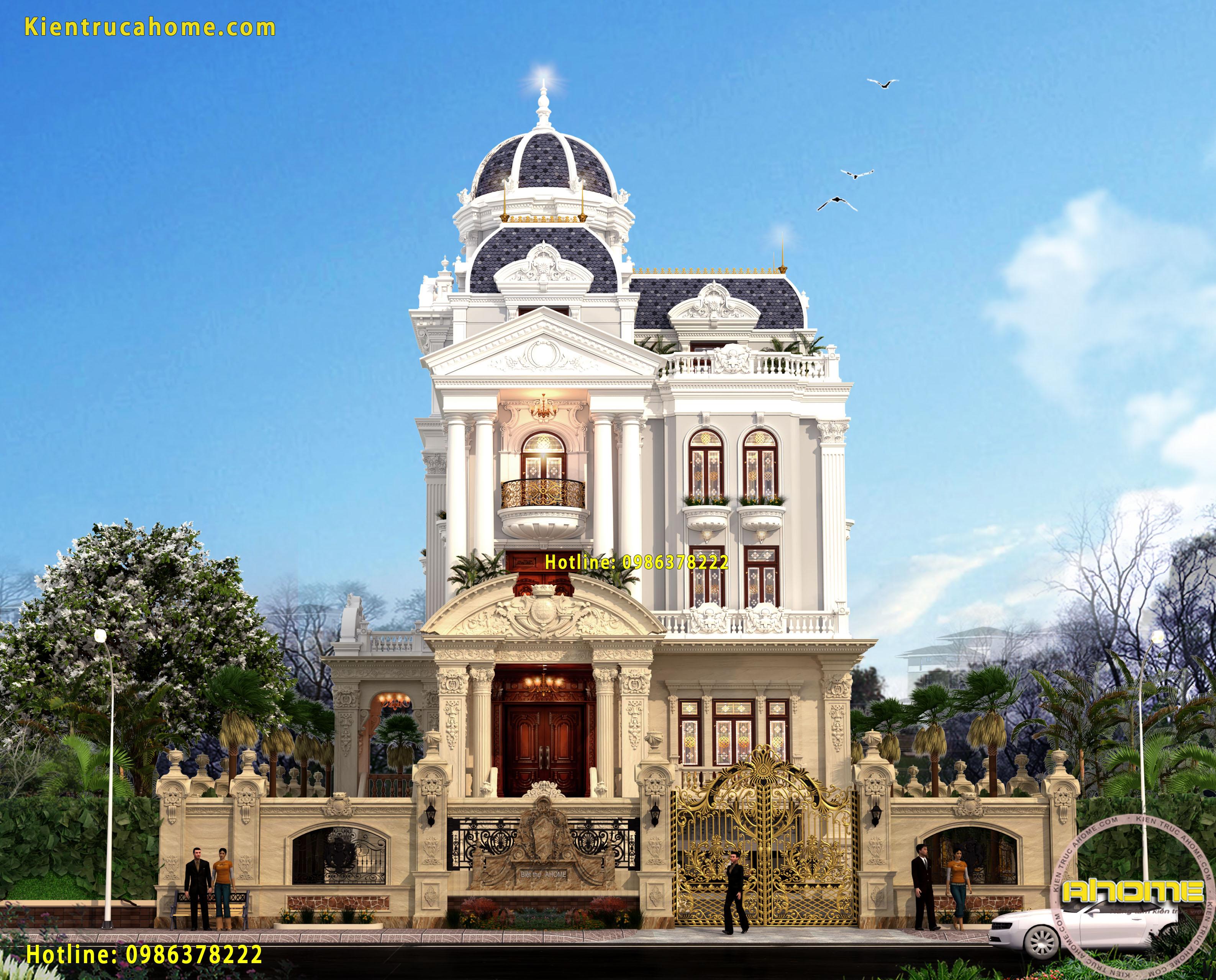 Mẫu lâu đài cổ điển Pháp cực sang trọng AH20135(CĐT: Ông Kỳ- Vĩnh Long)