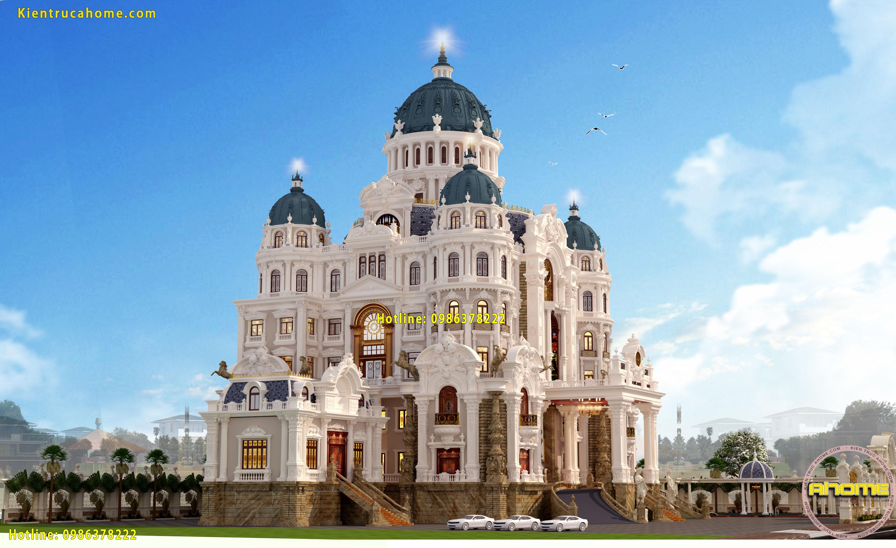 Mẫu lâu đài Pháp nguy nga tráng lệ AH20136(CĐT: Bà Vân- Ninh Bình)