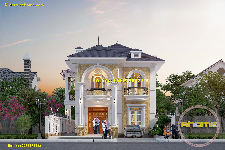Mẫu nhà 2 tầng Tân cổ điển đẹp AH20143(CĐT: Ông Thanh- Hưng Yên)