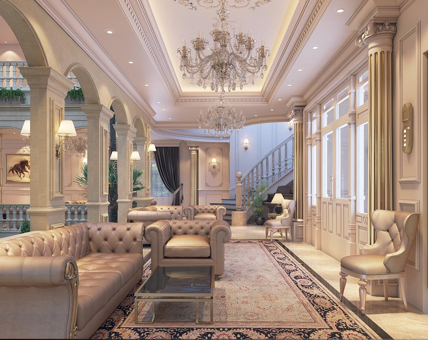 Mẫu nội thất biệt thự cổ điển hoàng gia-7