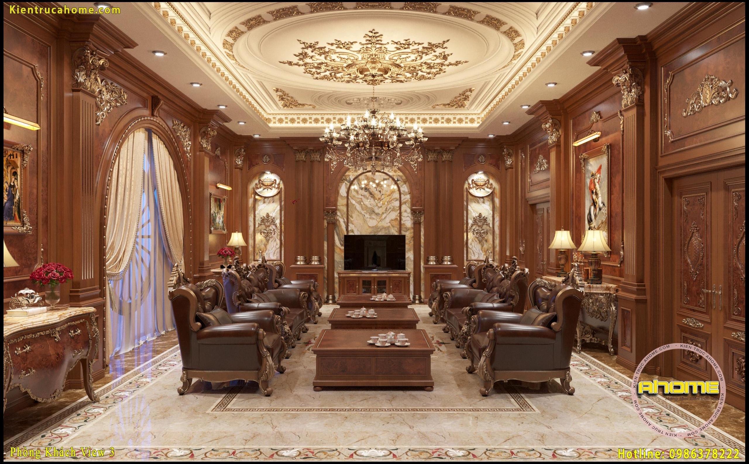Mẫu nội thất cổ điển gỗ-1