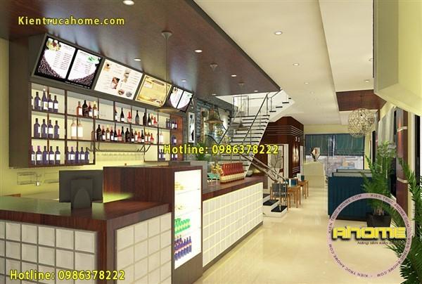 Mẫu nội thất quán Cafe đẹp hiện đại tại Hải Dương NT20043(CĐT: Ông Hùng- Haỉ Dương)