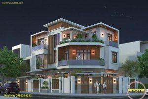 Các mẫu nhà biệt thự 3 tầng hiện đại