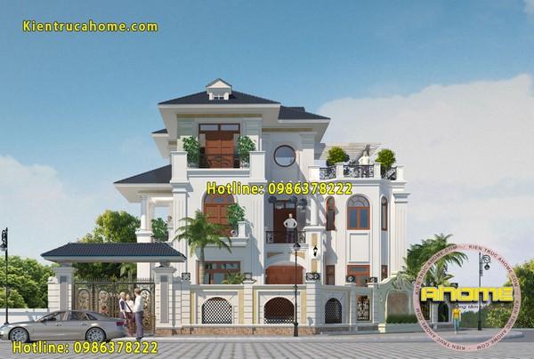 Mẫu nhà biệt thự 3 tầng mái thái đẹp nhất