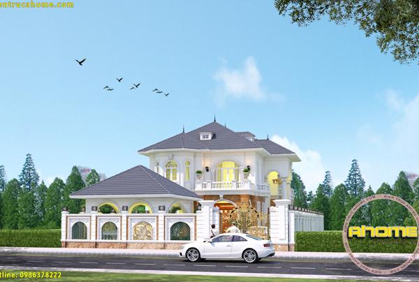 5 mẫu thiết kế biệt thự 1.5 tỷ phong cách tân cổ điển