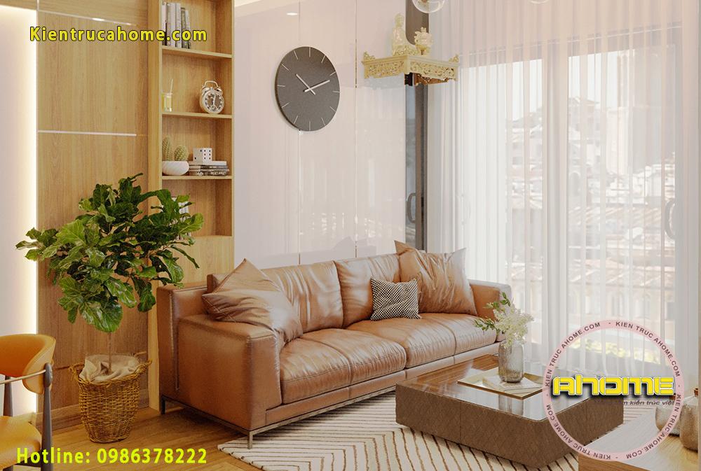 Mẫu nội thất chung cư 67m2 2 phòng ngủ