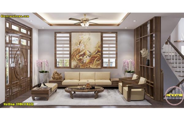 10 mẫu phòng khách gỗ tự nhiên đẹp mê mẩn.