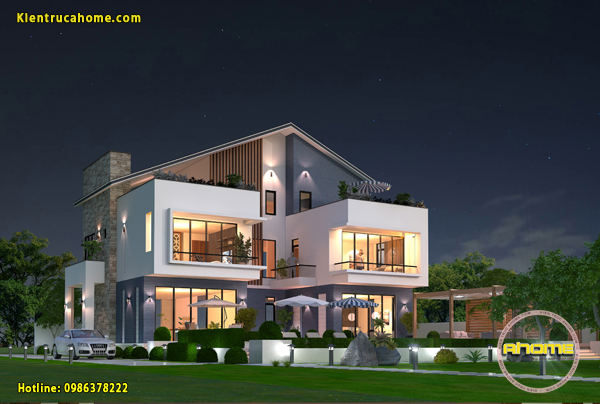 Thiết kế và thi công mẫu biệt thự 3 tầng Hiện đại theo phong cách nghỉ dưỡng