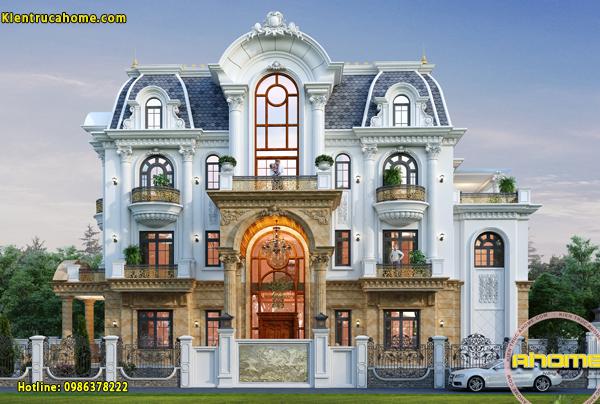 Biệt thự cổ điển 3 tầng tráng lệ AH21010(CĐT: Bà Thu- Hưng Yên)