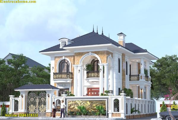 Thi công biệt thự 2 tầng tại Hà Tiên- Kiên Giang