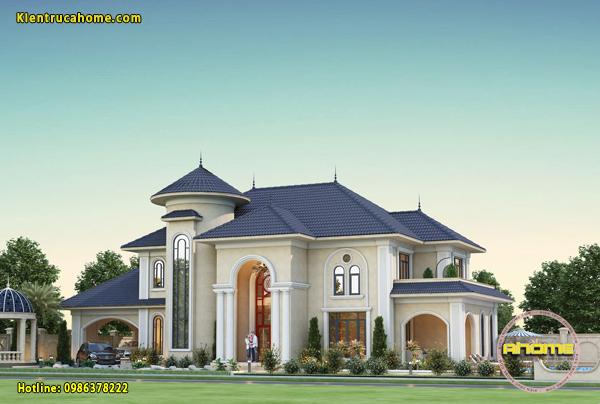 Mẫu biệt thự 2 tầng phong cách Địa Trung Hải tại Việt Nam AH21018(CĐT: Ông Hà- Hải Phòng)