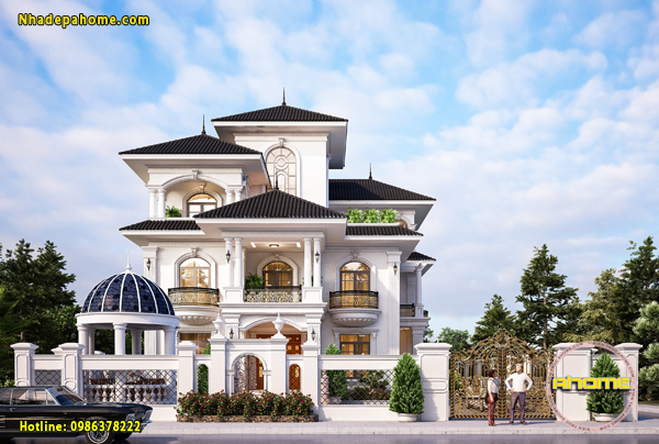 Mẫu biệt thự 3 tầng tân cổ điển ấn tượng AH21030(CĐT: Ông Hợp- Quảng Nam)
